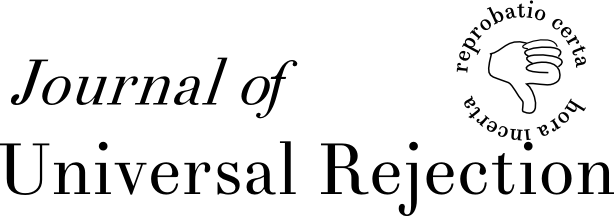 Journal of Universal Rejection's logo